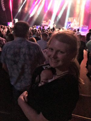 We love going to concerts and hearing live music, especially since Brad works in the music industry.  We haven't let parenthood hold us back!  ;-)