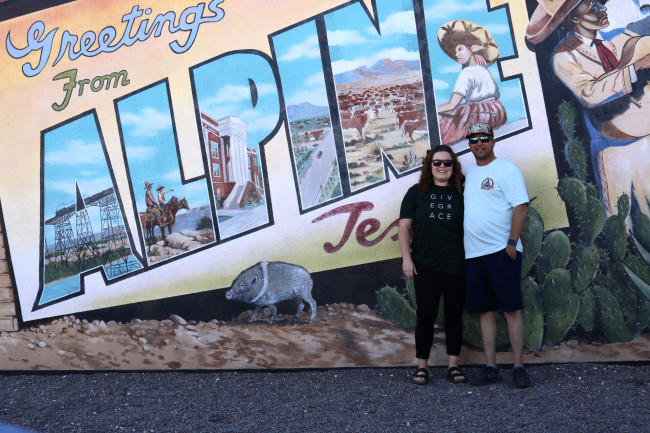 Before we drove over to Big Bend we spent the night in Alpine, TX.