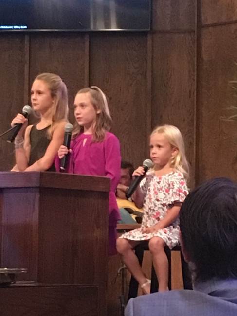 We had a service at church over adoption. We spoke to our church family about our struggle with ivf and how we decided to adopt. These sweet girls sang the most beautiful song for us.
