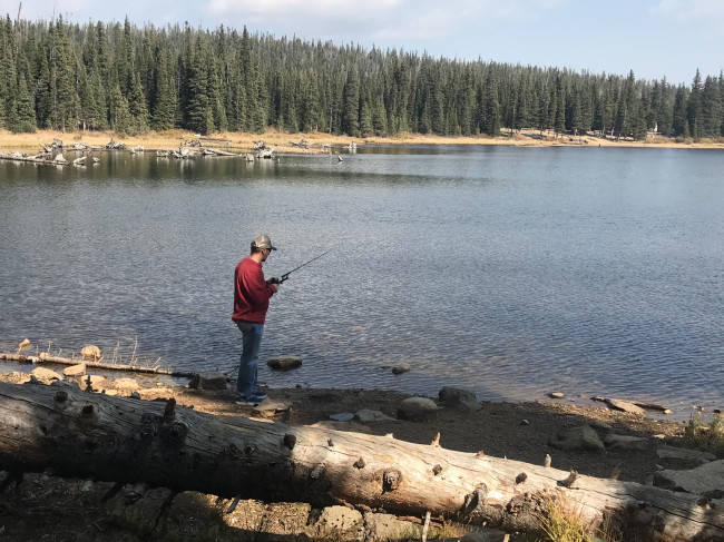 Fishing at Brainard Lake   Roosevelt National Forest.