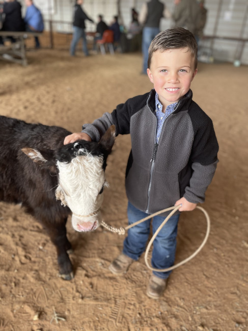 My oldest nephew, Kane showed his calf at the stock show. We are thankful we were able to watch him this weekend.