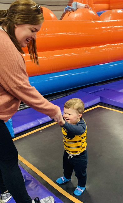 Bounced into our weekend at the trampoline park. We've been having freezing temps and needed to get to moving around.