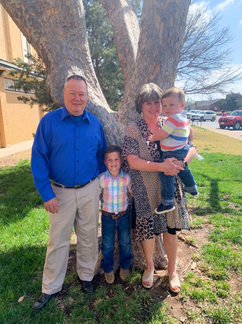 My parents with their two grandsons. They sure make the best Pop & Big Mom.