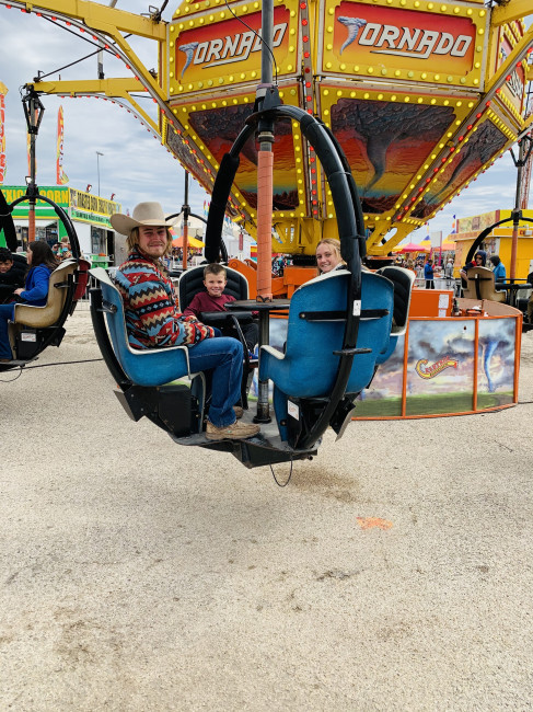 We took two of our nephews and our niece to the San Angelo Carnival before the rodeo.