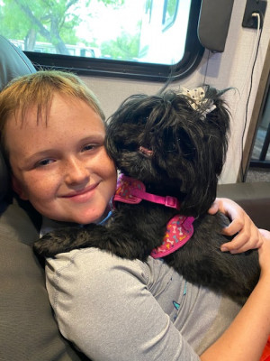 We love traveling in our RV and taking Everest with us!