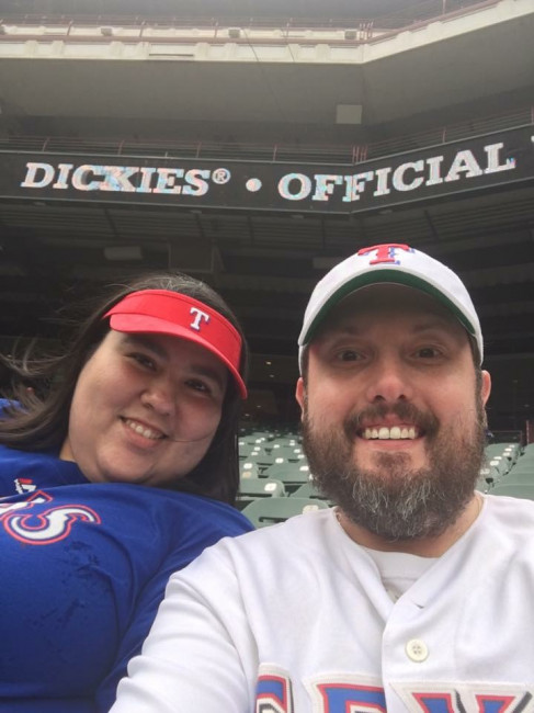 We love the Texas Rangers and enjoy watching the games in person when we get a chance.