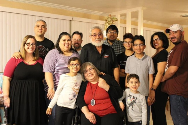 Amanda's family Christmas 2019. We missed two nephews this year as they spent the holidays with their mom.