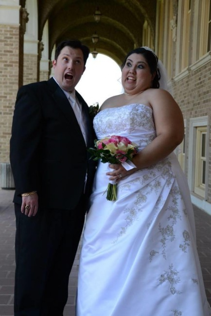 We've always been quite goofy. On our wedding day our photographers told us to just act natural! HA!