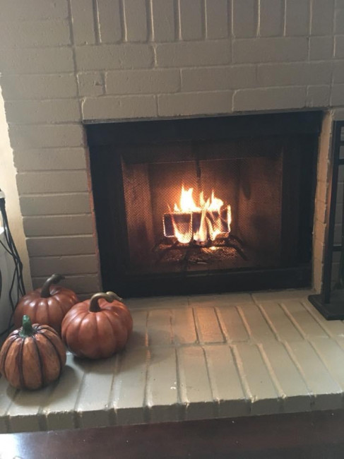 In the fall, we love to have a warm fire on cold days.