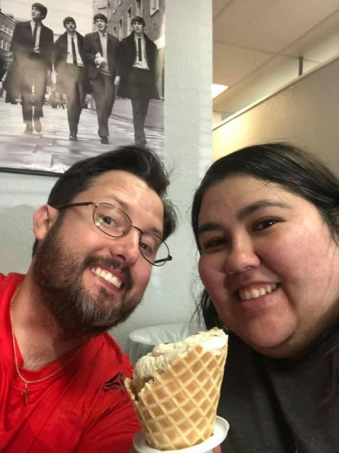 We love date nights at our favorite local ice cream shop!
