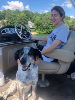Lake rides with Otis