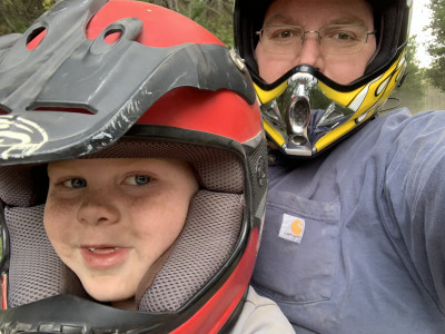 We love to take peaceful four-wheeler rides in the nearby mountains!