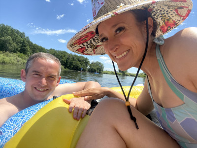 We love floating the river in the summertime!
