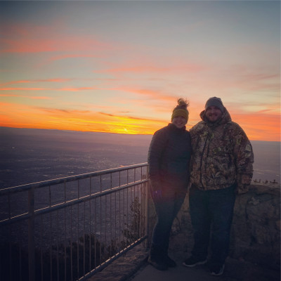 We love traveling! This was in New Mexico last year.