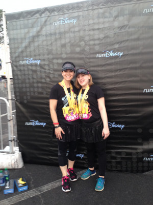We love to run! Liv and Angie complete a race together at Disney every year. Angie completes several races a year individually.