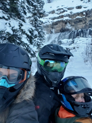 We love Snowmobiling