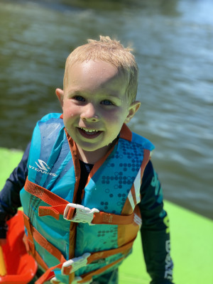 We love swimming at the lake....