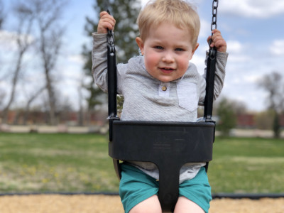 Going to the park is another of our favorites!